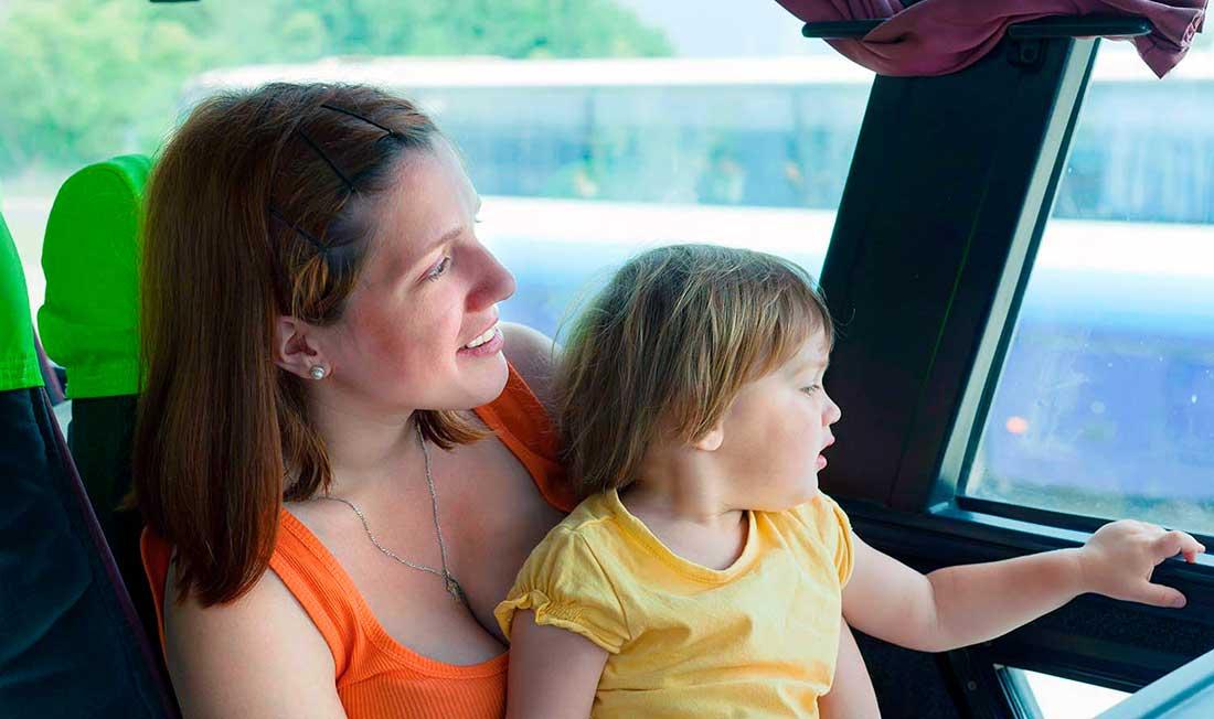Мамой в автобусе с