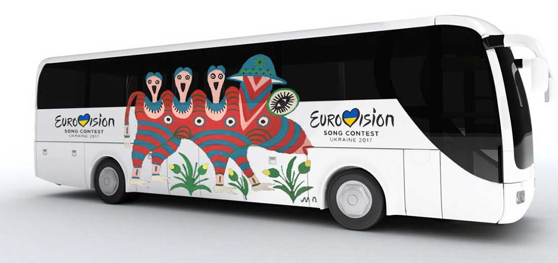 Автобус на Евровидение 2017