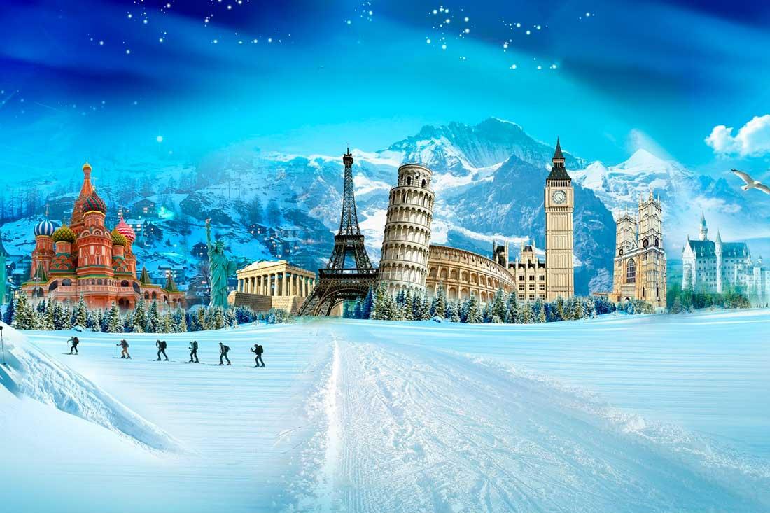 Новогоднее путешествие открытка
